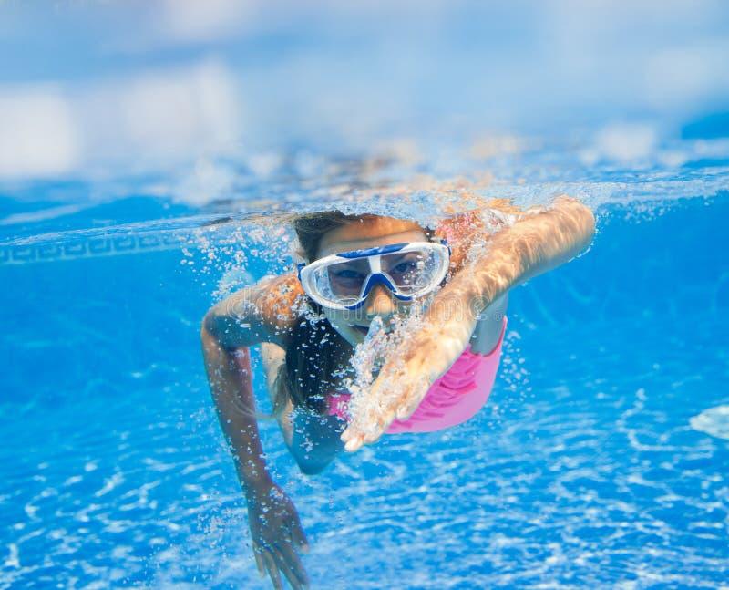 Podwodna dziewczyna zdjęcie royalty free