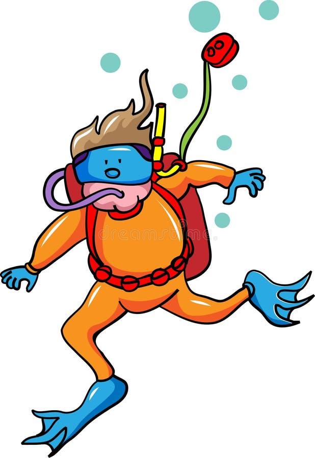 Podwodna pływaczka ilustracji