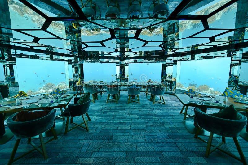 Podwodna restauracja obrazy royalty free