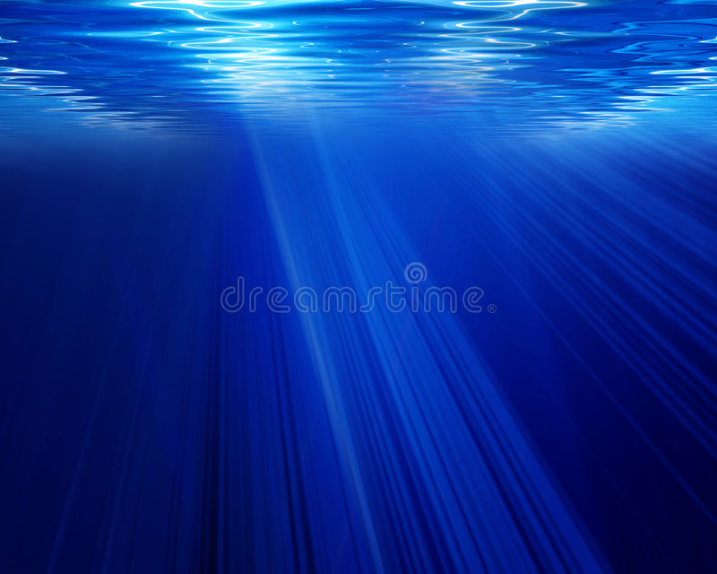 Podwodna scena ilustracja wektor