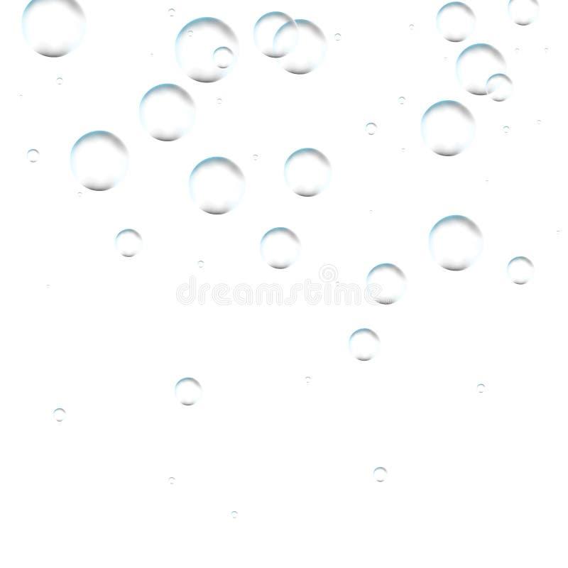 Podwodni fizzing lotniczy bąble leją się na białym tle _ royalty ilustracja