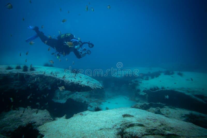 Podwodny fotograf zdjęcie stock