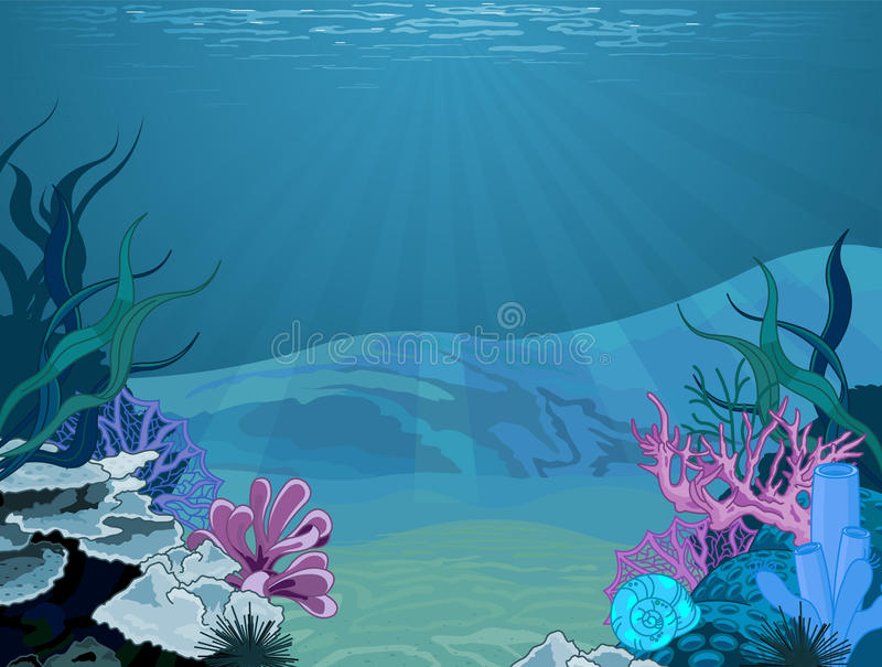 Podwodny krajobraz ilustracji