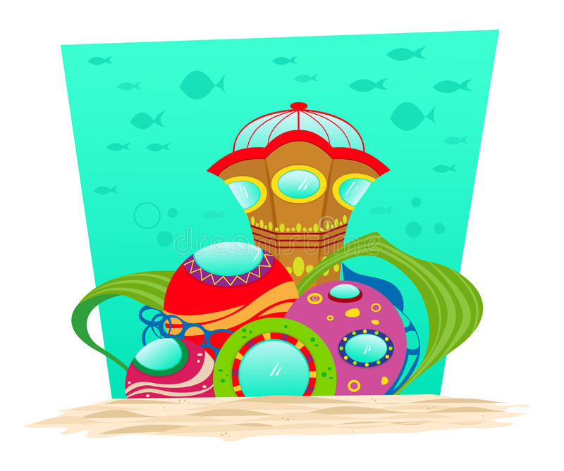 Podwodny obserwatorium ilustracji