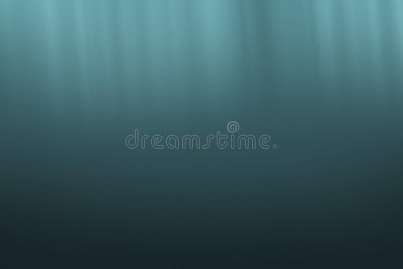 Podwodny ocean z promieniami światła tło zdjęcie royalty free