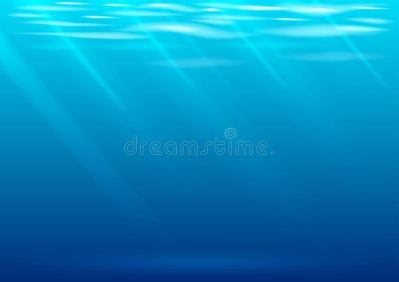 Podwodny tło w wektorowych grafika ilustracji