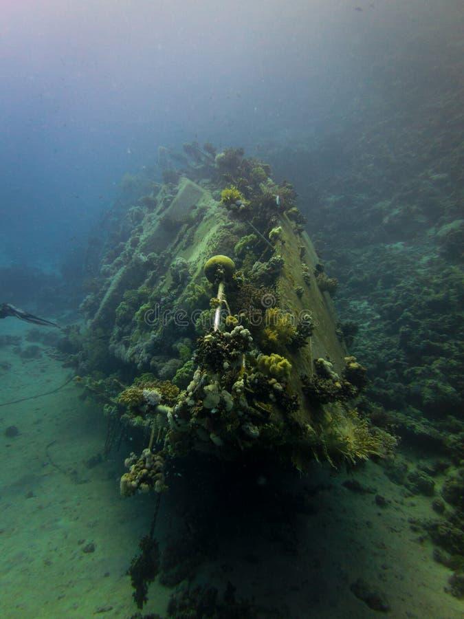 Podwodny wrak w Czerwonym morzu fotografia royalty free