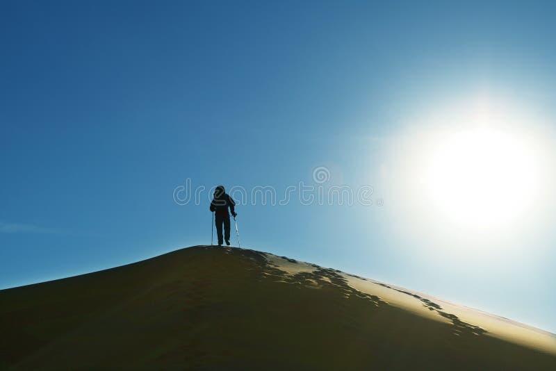 Podwyżka w pustyni obrazy royalty free