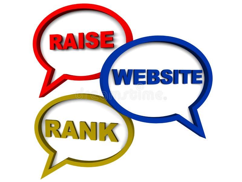 Podwyżki strony internetowej ranking ilustracja wektor