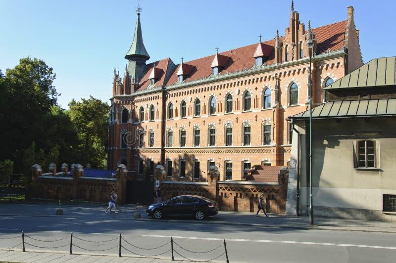 Podzamcze gata i Krakow arkivbilder