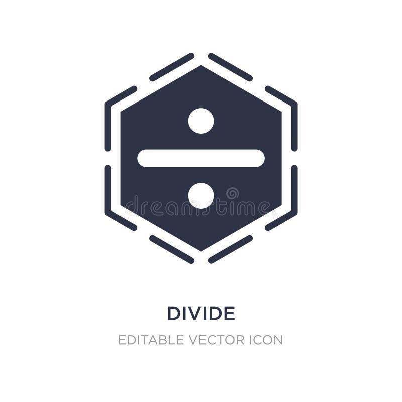 podział ikona na białym tle Prosta element ilustracja od znaka pojęcia ilustracji