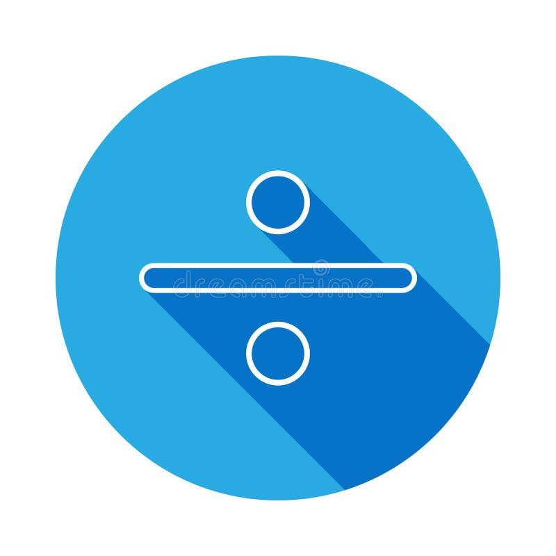 podziałowego znaka ikona z długim cieniem Cienka kreskowa ikona dla strona internetowa projekta i rozwoju, app rozwój Premii ikon royalty ilustracja