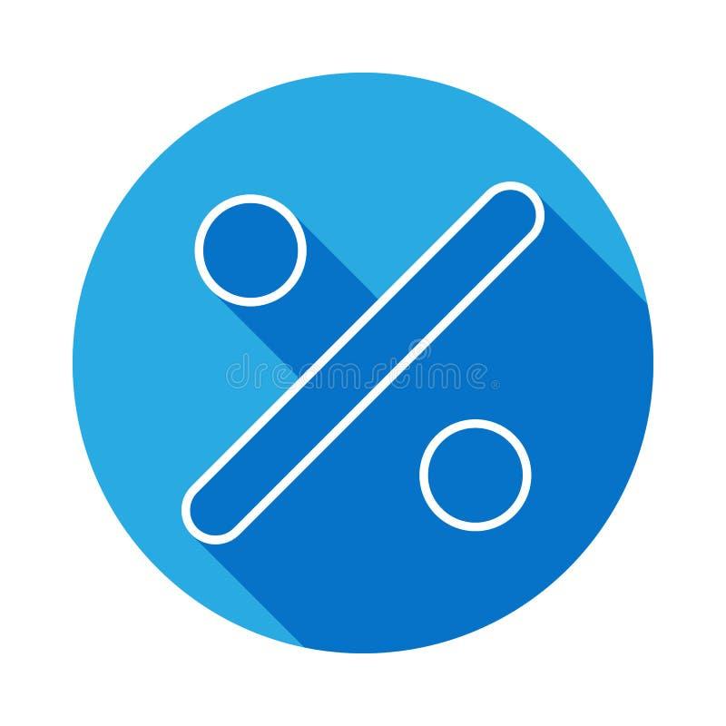 podziałowego znaka ikona z długim cieniem Cienka kreskowa ikona dla strona internetowa projekta i rozwoju, app rozwój Premii ikon ilustracji