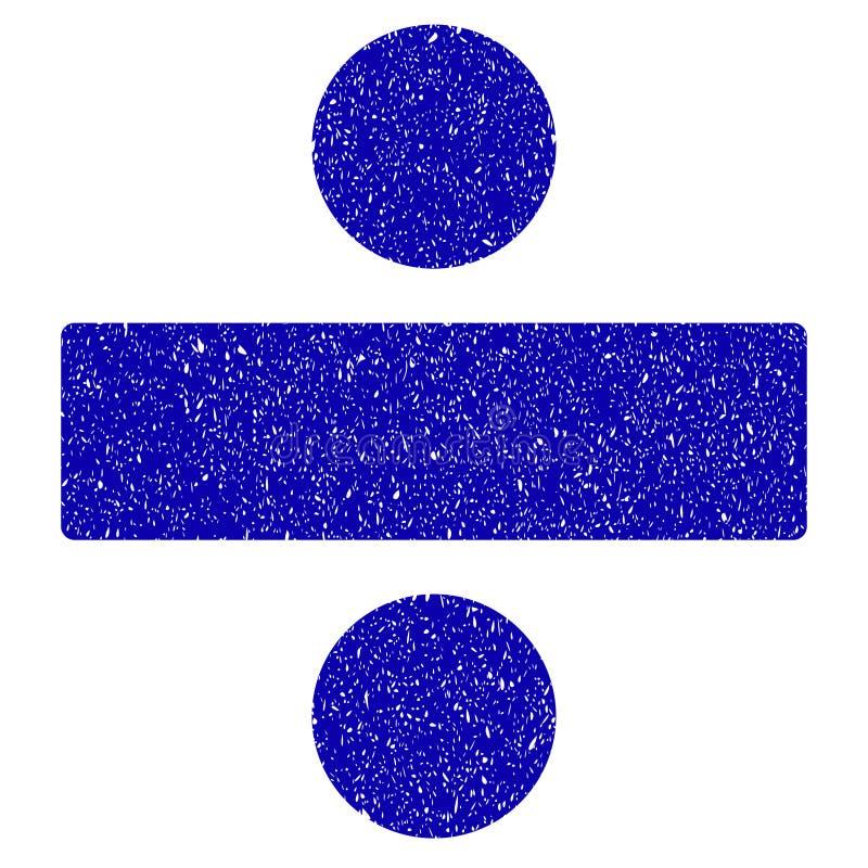 Podział matematyki operaci ikony Grunge Watermark ilustracja wektor