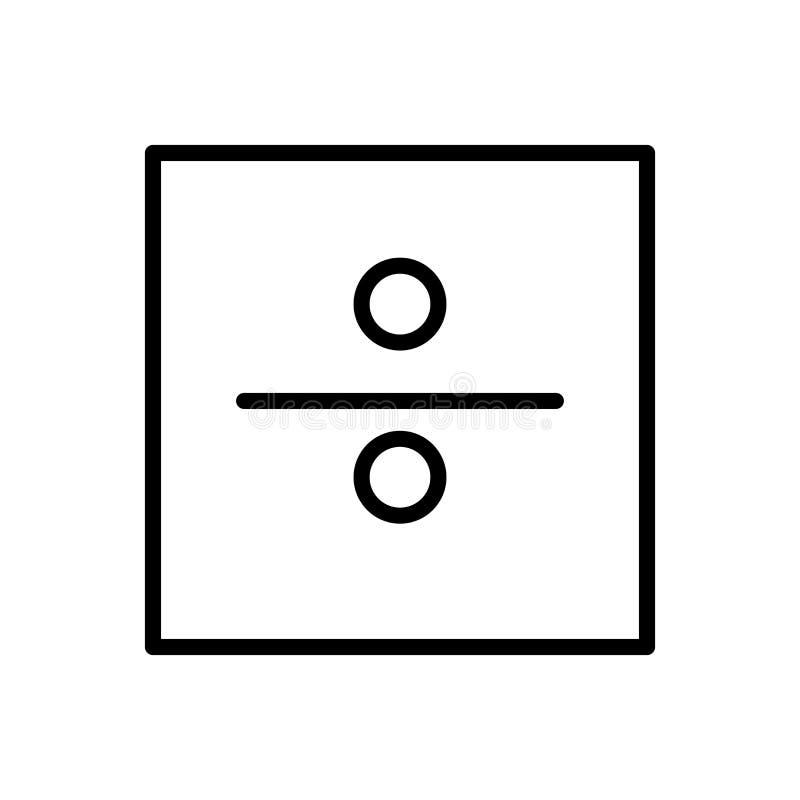 Podziałowy ikona wektor odizolowywający na białego tła, Podziałowego znaka, linii i konturu elementach w liniowym stylu, ilustracji