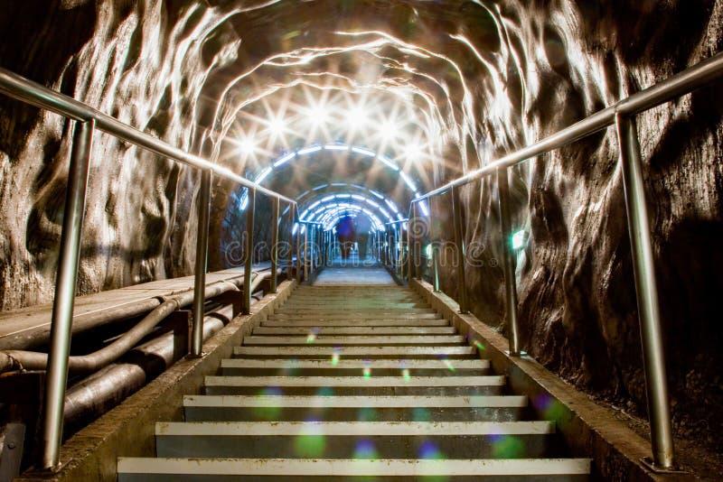 podziemny park tematyczny w solankowej kopalni Salina Turda fotografia stock