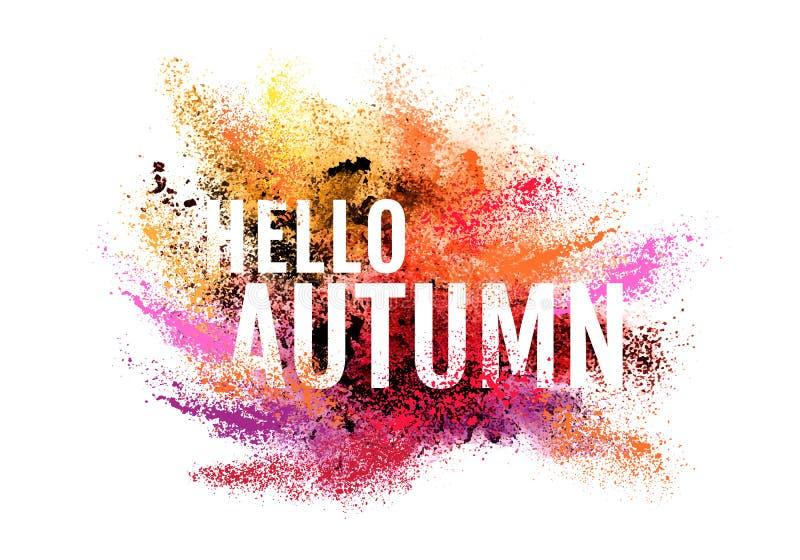 Poeira colorida do outono, fundo do vetor ilustração royalty free