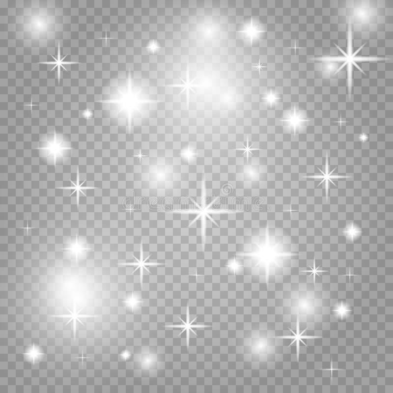 Poeira de estrela, milhares de luzes brilhantes ilustração royalty free