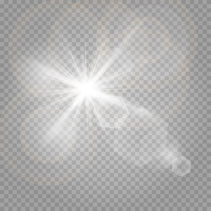 Poeira de estrela, milhares de luzes brilhantes ilustração stock