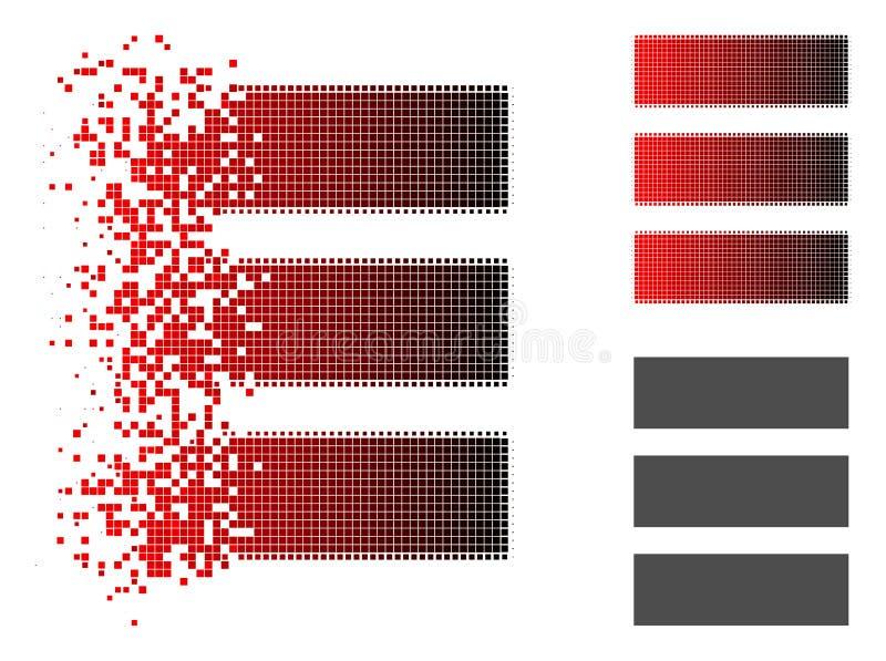 Poeira Dot Halftone Database Icon ilustração do vetor
