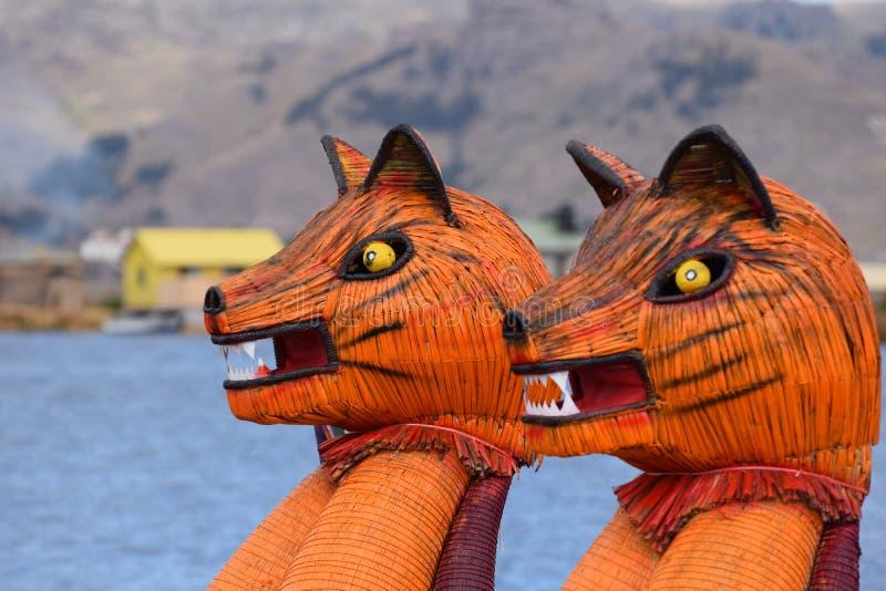 Poemahoofd - Titicaca-Meer stock foto