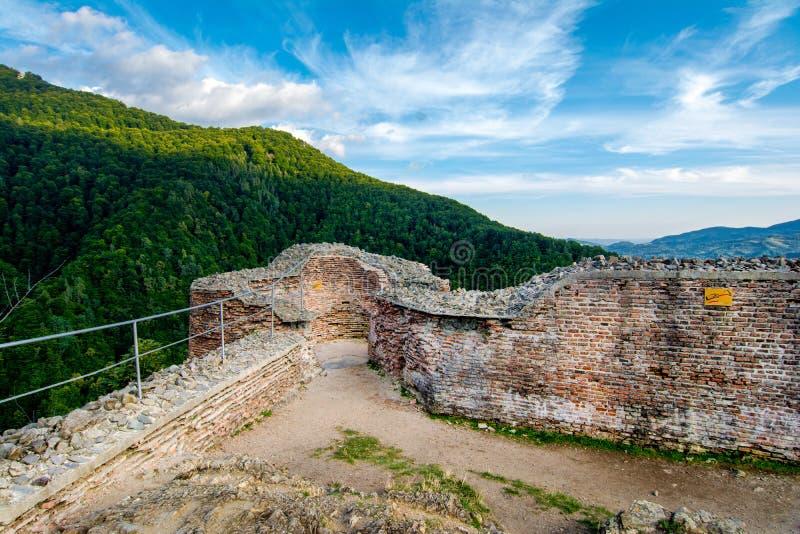 Poenari堡垒,罗马尼亚 免版税库存照片
