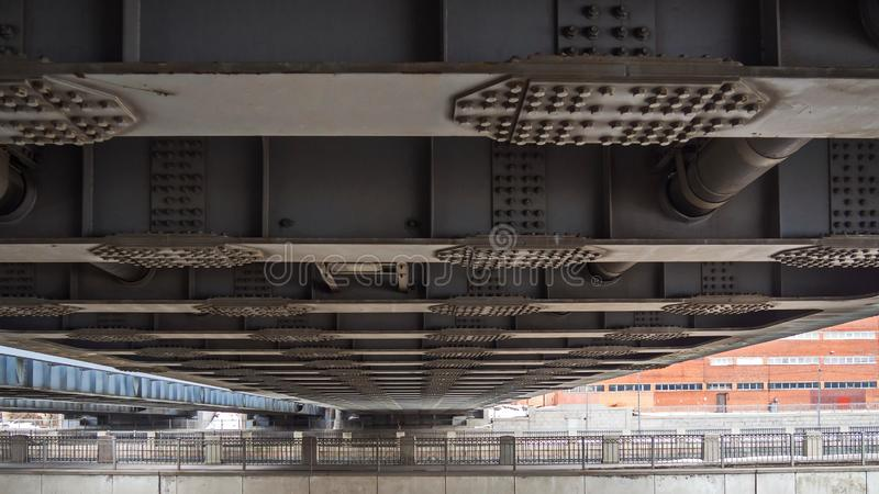 Poesia de estruturas do metal de St Petersburg foto de stock