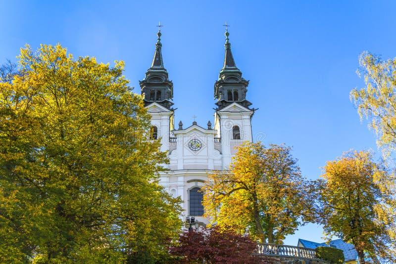Poestlingberg Basilica, Linz, Österrike arkivfoto