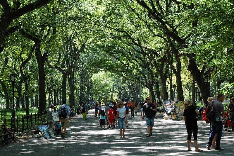 Literary Walk in Central Park, New York City royalty free stock image