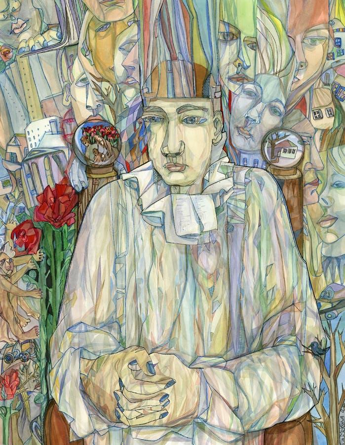 Poeta ilustração royalty free