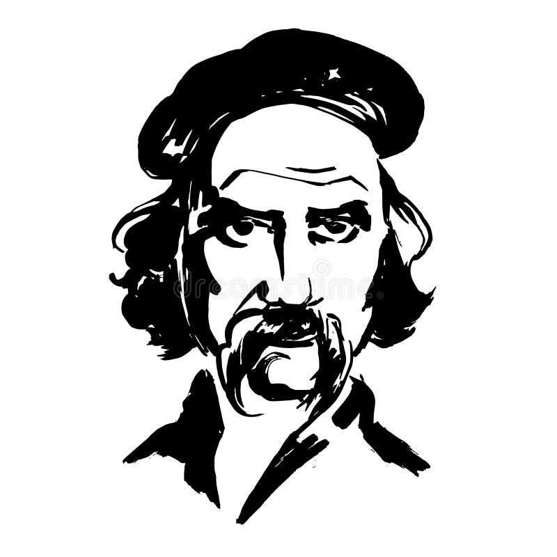 Poeta ucraniano Taras Shevchenko ilustração stock