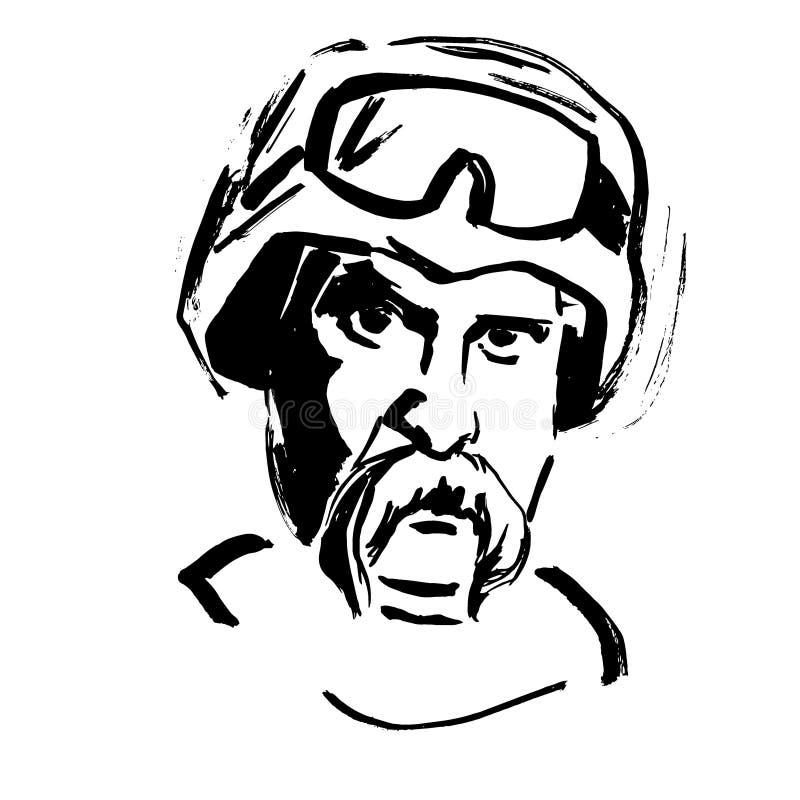Poeta ucraniano Taras Shevchenko ilustração do vetor