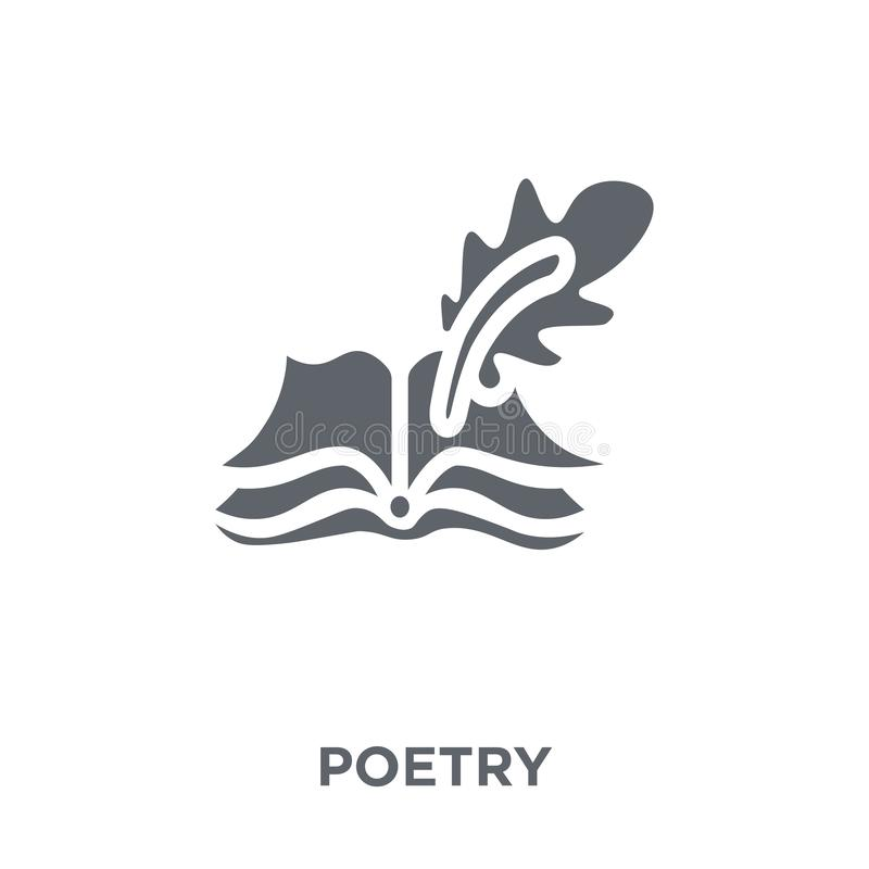 Poetry icon from Museum collection. Poetry icon. Poetry design concept from Museum collection. Simple element vector illustration on white background vector illustration