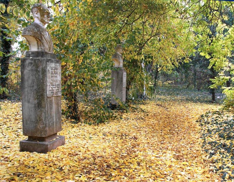 Poets Alley - University Botanical Garden `Pavel Covaci` - Macea, Arad, Romania royalty free stock images