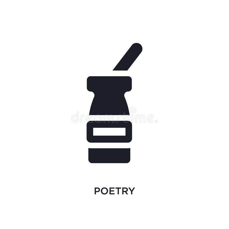 poezji odosobniona ikona prosta element ilustracja od muzealnych pojęcie ikon poezja logo znaka symbolu editable projekt na bielu ilustracja wektor