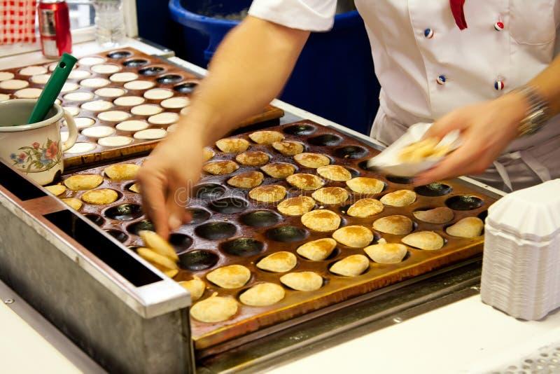 Poffertjes Mini Pancakes Stock Image