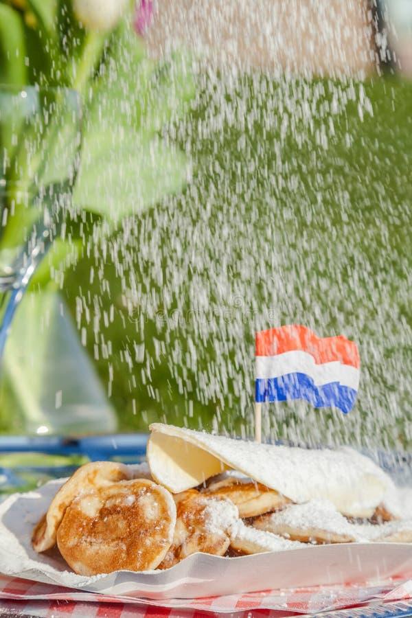 Poffertjes néerlandais traditionnels photos libres de droits