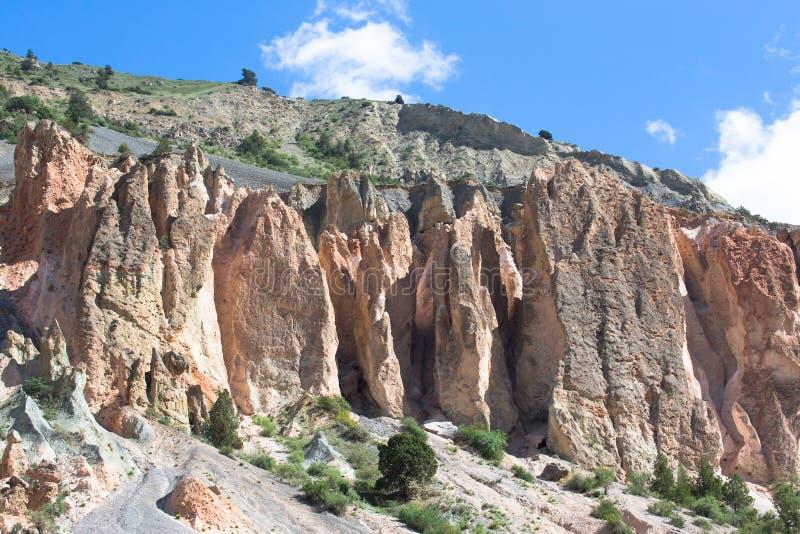 Pogórza Pamirs w Tajikistan zdjęcia stock