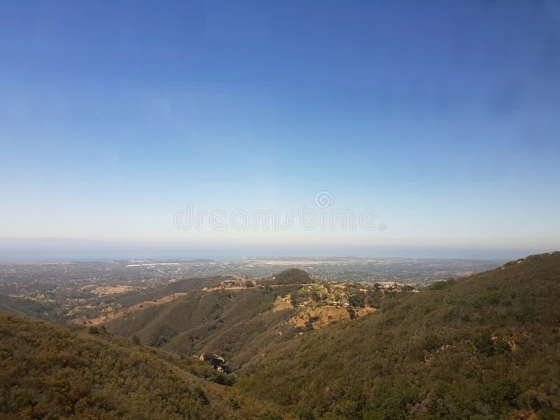 Pogórza przegapia Santa Barbara obraz stock