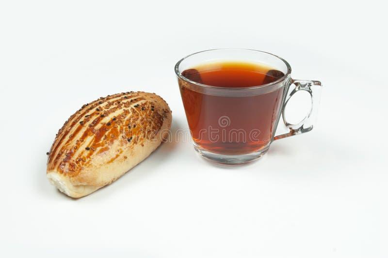 Pogaca and Black tea turkish famous pastry breakfast stock photos