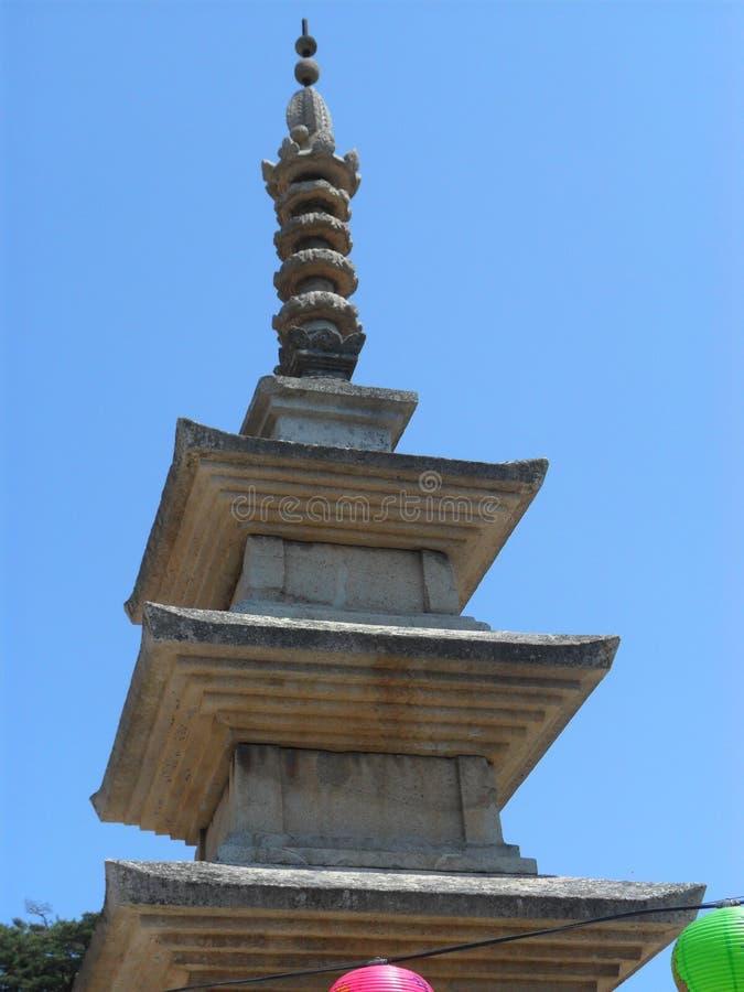 Pogada przy świątynią w Południowym Korea zdjęcie stock