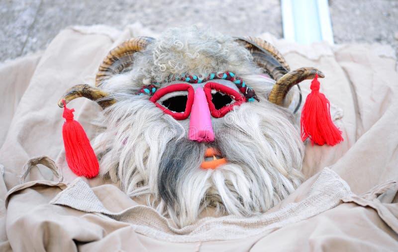 poganin maski szczeg?? fotografia stock