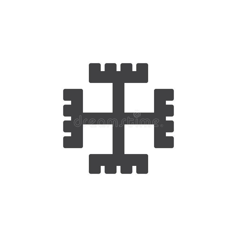 Poganin przecinająca wektorowa ikona ilustracja wektor