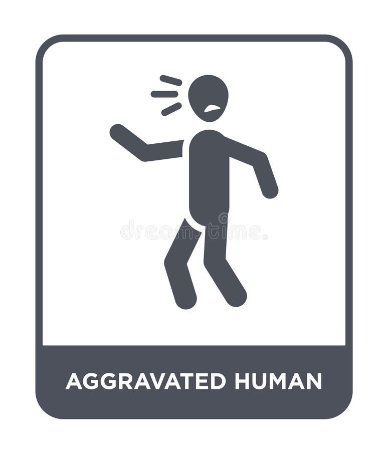 pogarszająca ludzka ikona w modnym projekta stylu pogarszająca ludzka ikona odizolowywająca na białym tle pogarszająca ludzka wek ilustracja wektor