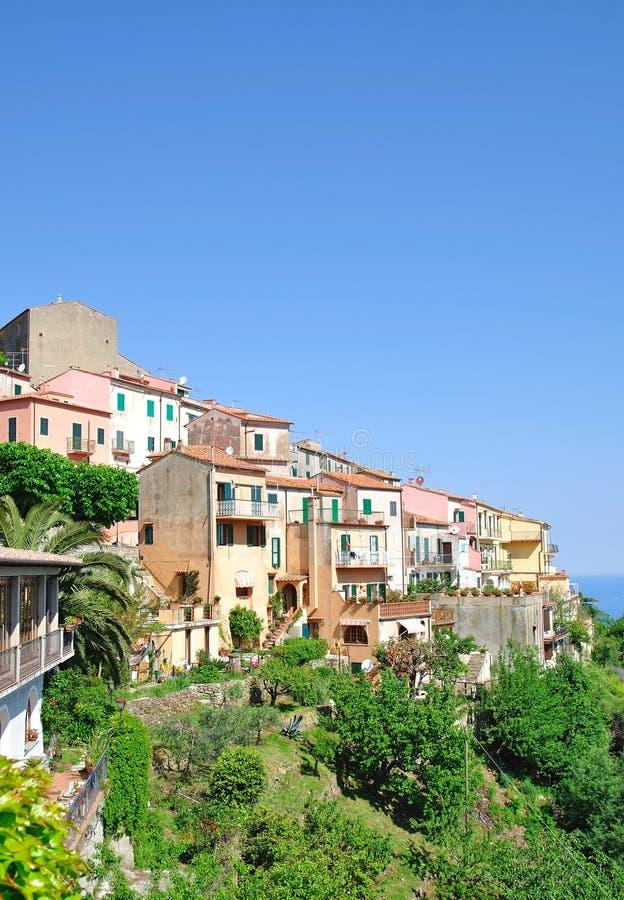 Poggio, het Eiland van Elba stock afbeelding