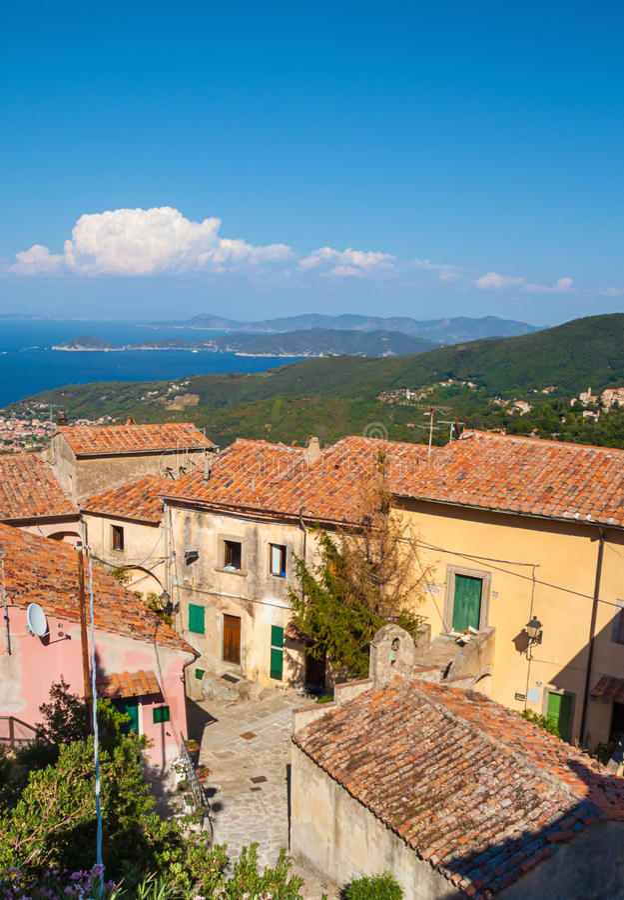 Poggio, het Eiland van Elba royalty-vrije stock fotografie