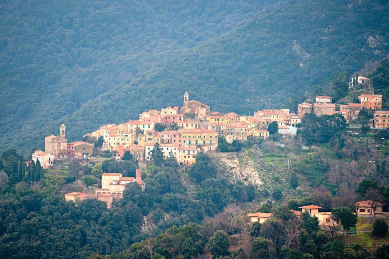 Poggio, Marciana, Elba island, Italy. View of Poggio of Marciana in Elba island, Livorno, Italy royalty free stock photos