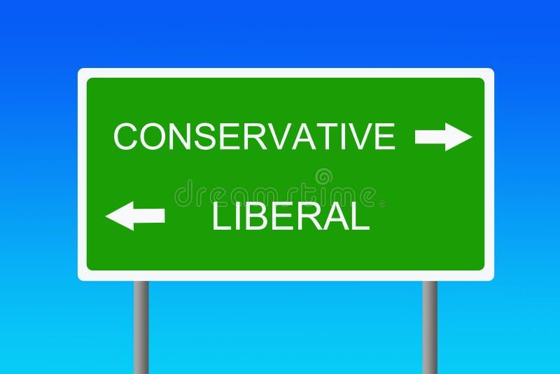 pogląd polityczny ilustracja wektor