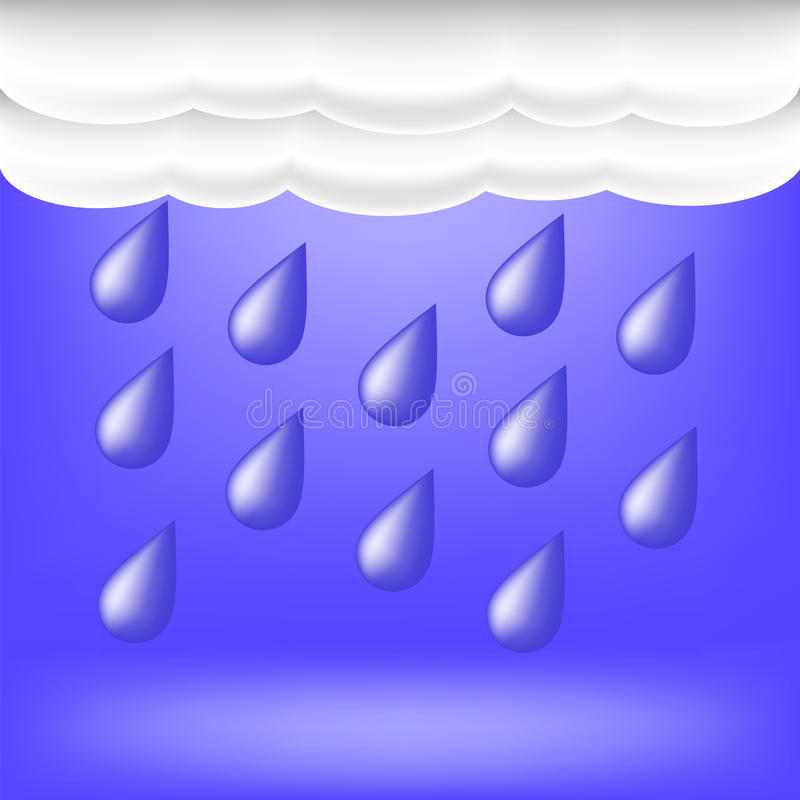 pogoda dżdżysta Raindrops spadać ilustracja wektor