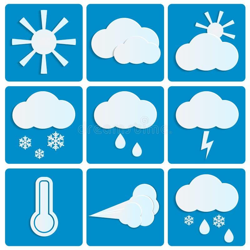 Pogoda i klimat ilustracji
